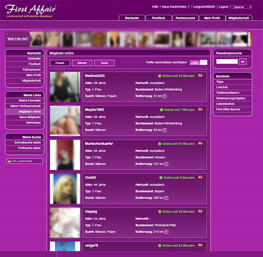 First Affair Mitglieder