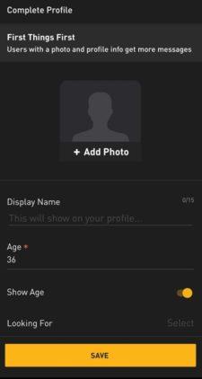 Drindr Profil